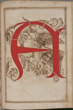 """Letter """"A"""" (1600-15), Antonio Schiratti, 'Opera Dianto Nella Quale Vedrete Molte Caratteri di Lettere' (Perugia, Umbria, Italy)."""
