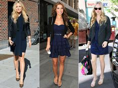The art of getting dressed: Looking good in black and blue