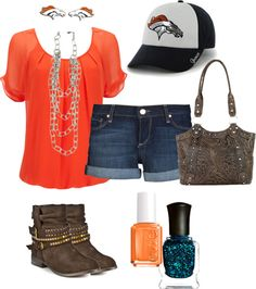 """Broncos Football"" by sarahmeine on Polyvore -- So excited for football season!"