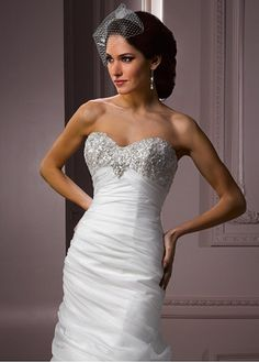Elegant Exquisite Sain Mermaid Sweetheart Neckline Wedding Dress. Give me bling!