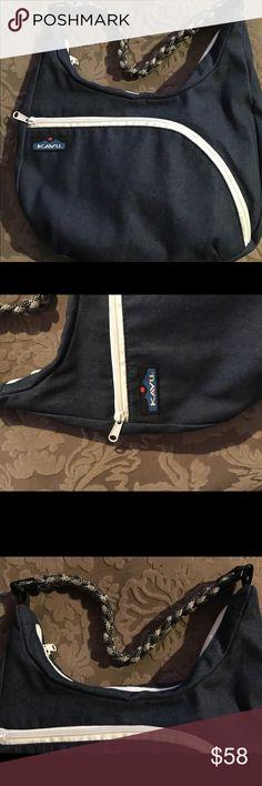 "Kavu Sydney Rope Bag Denim Blue Lovely denim and rope Sydney shoulder bag.  New without tags.  Gift quality, Kavu card and sticker included.    13""x10""x1"" kavu Bags Shoulder Bags"