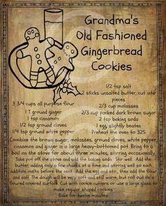 Vintage Gingerbread Man Cookie Recipe