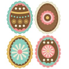 Layered Easter Eggs SVG cutting file for scrapbooking free svg cuts free svgs easter svg files