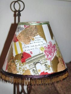 Top Diy Ideas: Shabby Chic Lamp Shades Sweets old lamp shades simple. Old Lamp Shades, Rustic Lamp Shades, Decoupage Lamp, Decoupage Ideas, Napkin Decoupage, Decoupage Furniture, Decor Crafts, Diy Crafts, Wooden Lampshade