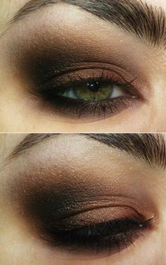 #makeup #brown #smokey