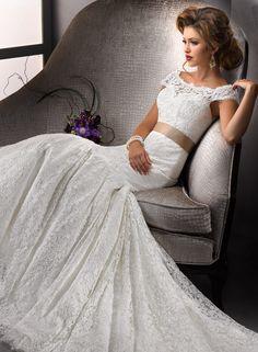 incredible off-the-shoulder lace! Sottero & Midgley Wedding Dresses - Style Amara Rose 712443 #weddingdress