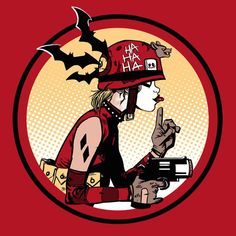 """Prank Girl"" by Fishmas is $10 today at ShirtPunch.com (09/18). #tshirt #TankGirl #RebeccaBuck #HarleyQuinn #HarleenQuinzel #Batman #Comics #DCcomics"