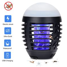 Gentle Portable Outdoor Camping Light Bulb Usb Charging Led Mosquito Killer Lamp Waterproof Repellant Pest Insect Pest Control Tools Be Novel In Design Lights & Lighting