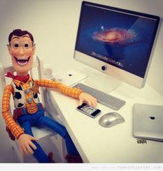 Montaje artístico con personajes de la película de Toy Story