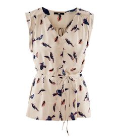 Bird priny crêpe blouse