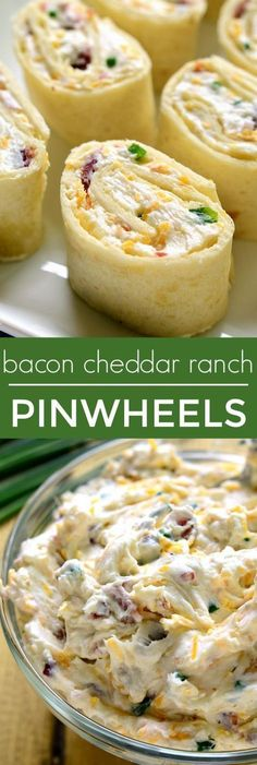 13 of the Best-Ever Church Supper Recipes These Bacon Cheddar Ranch Pinwheels are the perfect party food! Loaded with bacon, cheddar cheese, and creamy ranch flavor, they're sure to become your new favorite party appetizer! Finger Food Appetizers, Appetizers For Party, Appetizer Recipes, Snack Recipes, Cooking Recipes, Parties Food, Avacado Appetizers, Prociutto Appetizers, Mexican Appetizers