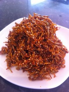 ASIAN: Korean dried anchovy side dish (myeolchibokkeum)Dry Dry or dryness usually refers to: Dry or DRY may also refer to: Korean Side Dishes, Side Dishes For Fish, Fish Dishes, South Korean Food, Korean Street Food, Fish Recipes, Asian Recipes, Asian Foods, Korean Seaweed Soup