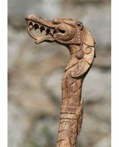 Wooden Dragon Walking Stick