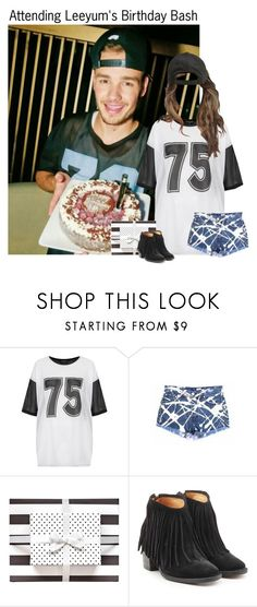 """Attending Leeyum's Birthday Bash"" by kateremington-1 ❤ liked on Polyvore featuring Payne, Topshop, Sugar Paper, Fiorentini + Baker and Billabong"