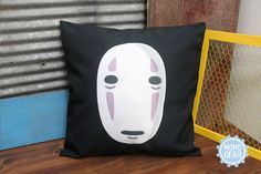 Studio Ghibli No Face Spirited Away Pillow Cover, 16 x 16, Anime Decorative, Anime Pillow, Pillow Cover, Kawaii , Home Decor, Gift  https://www.etsy.com/listing/260098372/studio-ghibli-no-face-spirited-away?ref=shop_home_active_6