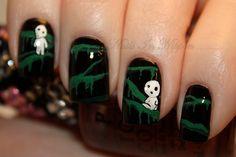 holy greatness! Its a studio ghibli nail art!