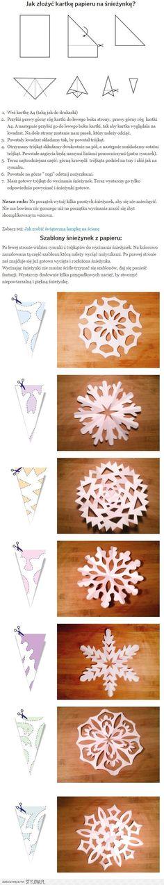 Jak zrobić śnieżynki z papieru