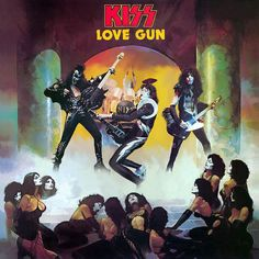 Kiss Love Gun Album Cover With Kiss Alive I Synthesis ! Kiss Band, Kiss Rock Bands, Kiss Album Covers, Rock Album Covers, Paul Stanley, Gene Simmons, Sucker Punch Cosplay, Broly Ssj3, Kiss World