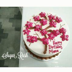 sakura birthday cake