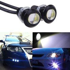 LED Eagle Eye White Light Daytime Running DRL Tail Backup Light Car Motor