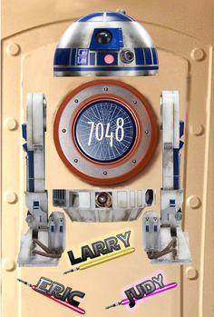 Star Wars Disney Cruise Door Magnet featuring free R2D2 download.