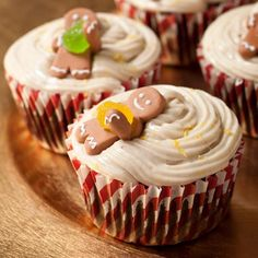 Cupcake Recipes : Gingerbread cupcakes with lemon-ginger frosting