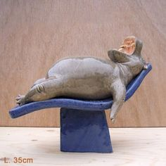 House Hippo, Hippopotamus For Christmas, Baby Hippo, Ceramic Angels, Pottery Designs, Cute Animal Pictures, Whimsical Art, Animal Drawings, Art Images