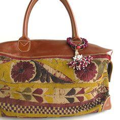 India bordado del cuero del bolso de Boston de (A) - ropa asiática de productos asiáticos Risi e Bisi (Rijebiji)