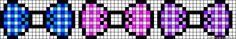 Plaid bows perler bead pattern