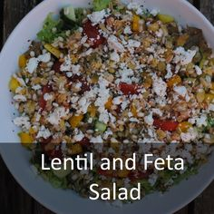 lentil and feta salad more eating salads healthy salads feta salad ...