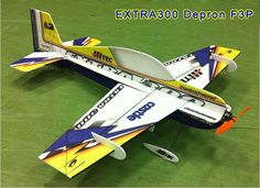 Tech One 4 Channel Extra 300 Indoor Pattern Plane F3P Kit 830mm Wingspan