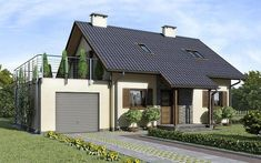 House Outside Design, Simple House Design, Modern House Design, Cafe Interior Design, Interior And Exterior, Style At Home, Small Modern House Plans, Prefabricated Houses, Exterior House Colors