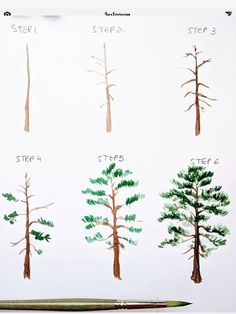 🌲 NEW step by step! 😀 Today I am teaching you how to paint a Scots Pine the way I do. TI 🌲 NEW step by step! 😀 Today I am teaching you how to paint a Scots Pine the way I do. Watercolor Paintings For Beginners, Watercolour Tutorials, Watercolor Techniques, Beginning Watercolor Tutorials, Beginning Painting Ideas, Watercolor Portraits, Painting Tutorials, Art Tutorials, Watercolor Trees