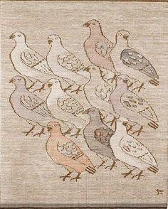 an eclectic eccentric Weaving Art, Tapestry Weaving, Dove Pigeon, Bird Drawings, Bird Design, Textile Artists, Creature Design, Cross Stitch Embroidery, Fiber Art