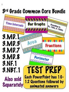 Go paperless!  3rd Grade Common Core Math Bundle - PowerPoint Files $