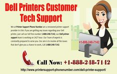 Contact Dell Printer Customer Support 1-888-248-7142 Number