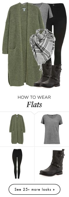 """Green & Grey"" by coolchick1630 on Polyvore featuring Topshop, Monrow and rag & bone"