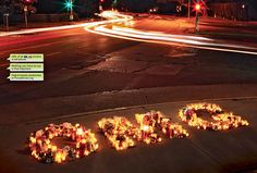 Nonprofit organization FocusDriven and agency Team One set up roadside memorials shaped into emoticons and texting abbreviations to remind drivers to pay attention.