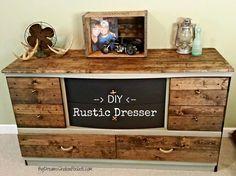 Diy Rustic Dresser Www Dreamsshallowpockets