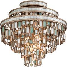 Corbett Lighting Dolcetti Transitional Crystal Flush Mount Ceiling Light