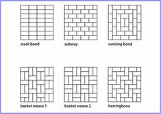 Backsplash Tile Patterns subway tile pattern guide: crosshatch | tile design | pinterest