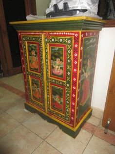 Indian Furniture Hand Painted Painting Craftsman