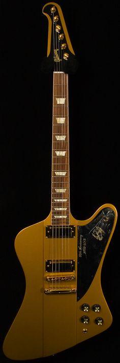 gibson - 50th anniversary firebird. bullion gold.