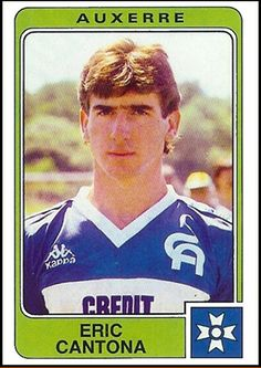 Eric Cantona Beautiful Games: stickers from Old School Panini