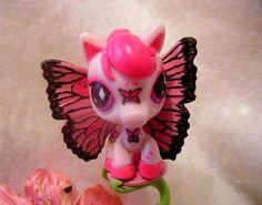 Fan Art of Olivia for fans of Littlest Pet Shop. A beautiful custom pink butterfly pony LPS toy :)