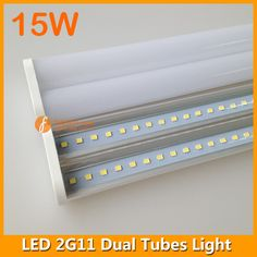 4pins clear milky LED 2G11 dual tubes light