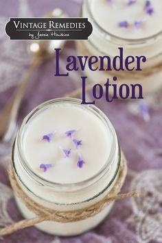 Simple Lavender Lotion - Vintage Remedies  Lavender is great for general dry or damaged skin as an everyday lotion. It's also soothing and mild enough to use with babies (though we recommend an infused olive oil for use in babies under 6 months). Because it contains antimicrobial benefits as well as anti-inflammatory benefits, it's perfect for bug bites, scrapes, cuts, and everything else that comes alone. The soothing aroma also helps to calm nerves as it heals the skin. (Great for bug…