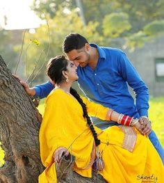 Gur Wedding Couple Photos, Pre Wedding Photoshoot, Couple Shoot, Wedding Shoot, Wedding Couples, Punjabi Couple, Punjabi Bride, Punjabi Suits, Love Couple Photo
