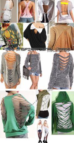 49 Ideas Sweatshirt Ideas Cut Up Zerschnittene Shirts, Diy Cut Shirts, Band Shirts, Diy Clothes Refashion, Shirt Refashion, Diy Sweatshirt, T Shirt Diy, T Shirt Weaving, Cut Shirt Designs