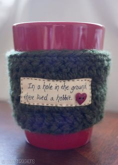 The Hobbit Lord of the Rings Mug Cozy Cup Cozy by CoonsKreations, $8.97